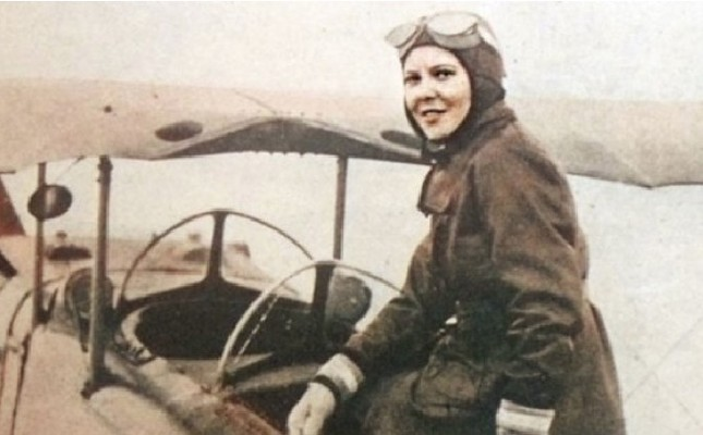 Eribe Kartal Hürkuş trained in aviation from an early age and died at 18 when her parachute failed to open during one of her training jumps.
