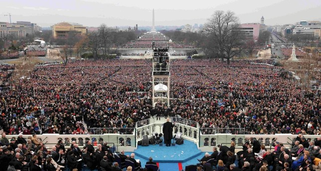 U.S. President Donald Trump speaks after taking the oath of office during inauguration ceremonies swearing him in as the 45th president of the United States on the West front of the U.S. Capitol in Washington, U.S., January 20, 2017. (Reuters Photo)