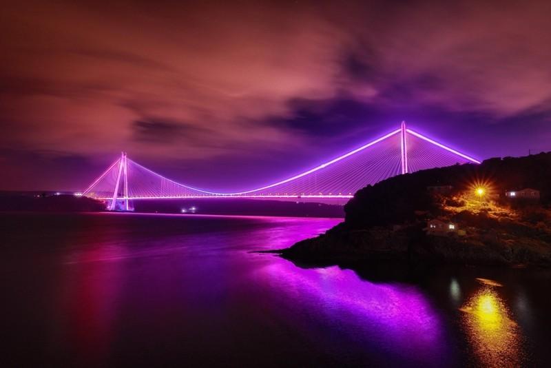 Картинки мост фиолетовый оштукатуренного фасада