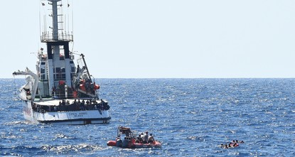 Desperate migrants leap off NGO ship, EU remains silent
