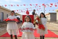 من مراسم تسليم IHH بيوتا للاجئين السوريين في في اعزار الأناضول