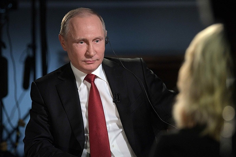 Russian President Vladimir Putin speaks with journalist Megyn Kelly during an interview on the sidelines of the St. Petersburg International Economic Forum (SPIEF), Russia, June 3, 2017. (Reuters Photo)