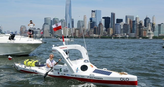 Polnischer Großvater will 3700 Kilometer von New York nach Lissabon paddeln