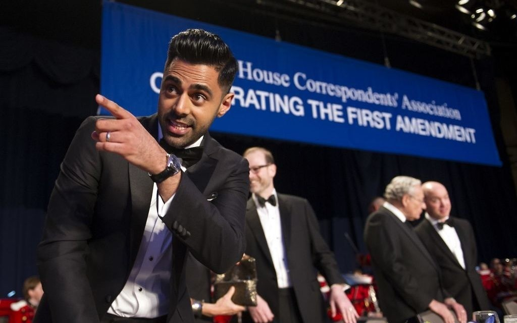 Hasan Minhaj hosted the 2017 White House Correspondents Dinner. (AP Photo)
