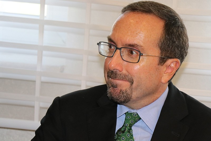 U.S. Ambassador John Bass has been criticized for ban on Hilal Kaplan. Bass reportedly called Sabahu2019s story on an alleged FETu00d6-linked employee of the U.S. consulate in Istanbul u201cfictitious.u201d (IHA Photo)
