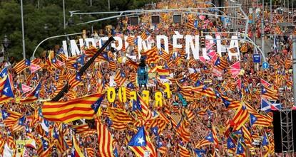 Eine Million Katalanen fordern Unabhängigkeit