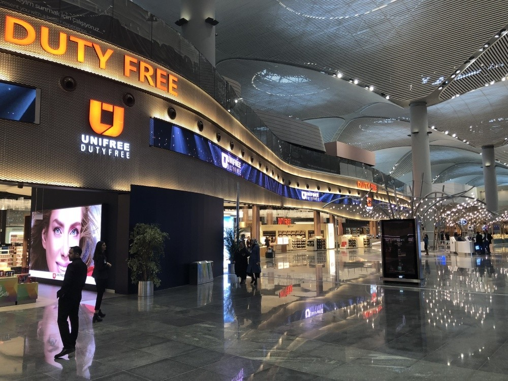 Around 1,000 domestic and international brands are being brought together under one roof at one of the world's largest duty-free areas at Istanbul Airport.