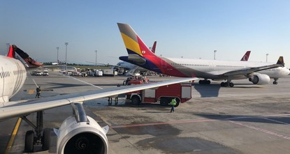 Asiana jet crashes into Turkish Airlines plane's tail