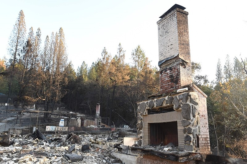 Camp Newman, a Jewish summer camp, is seen following wildfires in Santa Rosa, California on October 15, 2017. (AFP Photo)
