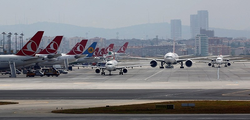 Aircraft taxi at Atatu00fcrk International Airport in Istanbul, Turkey, June 29, 2016. (Reuters Photo)