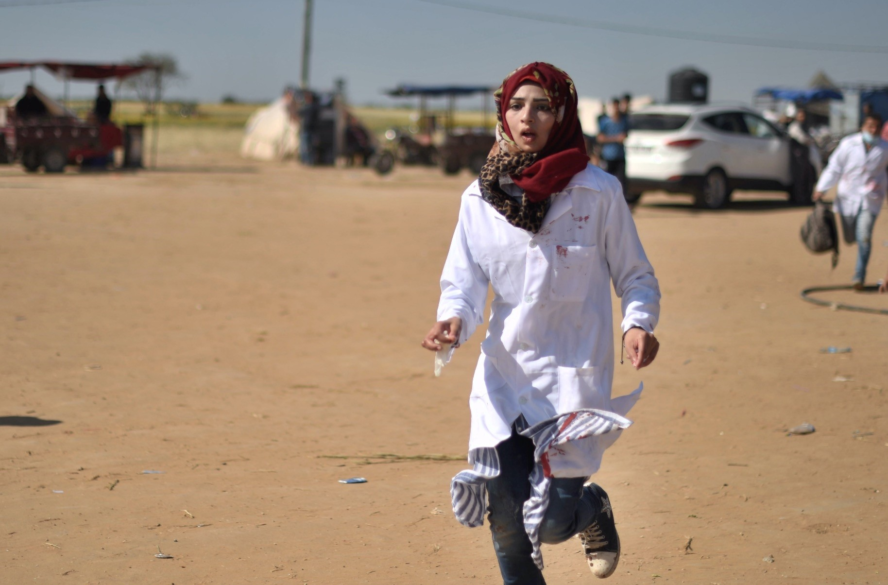 A 21-year old Palestinian medic, Razan al-Najjar was shot dead by Israeli forces as she ran to treat injured protesters at the border fence.