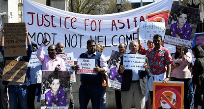 Indian media fined for naming rape victim as protests greet Modi in London