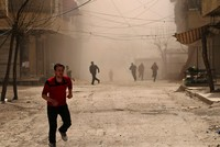 At least two civilians were killed in Assad regime attacks in the eastern Ghouta neighborhood of capital Damascus, an opposition official said on Sunday.