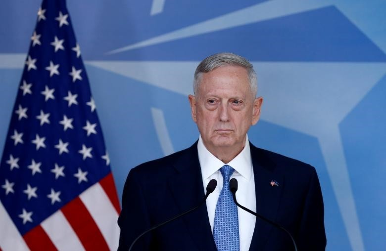 U.S. Defence Secretary Jim Mattis briefs the media during a NATO defence ministers meeting at the Alliance's headquarters in Brussels, Belgium February 15, 2017. (REUTERS Photo)