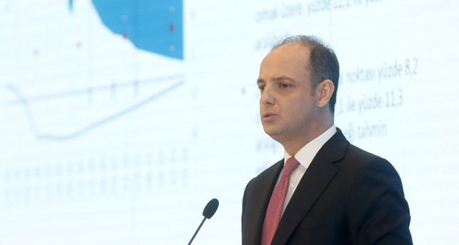 Central Bank of Republic of Turkey CBRT Governor Murat Çetinkaya speaks during the release of the quarterly inflation report, Istanbul, April 30, 2019.