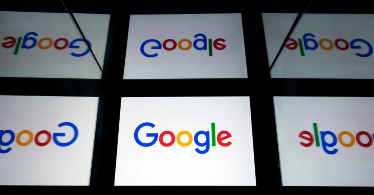 In this file photo taken on February 18, 2019 This illustration picture shows the US  multinational technology and Internet-related services company Google logo displayed on a tablet in Paris (AFP Photo)