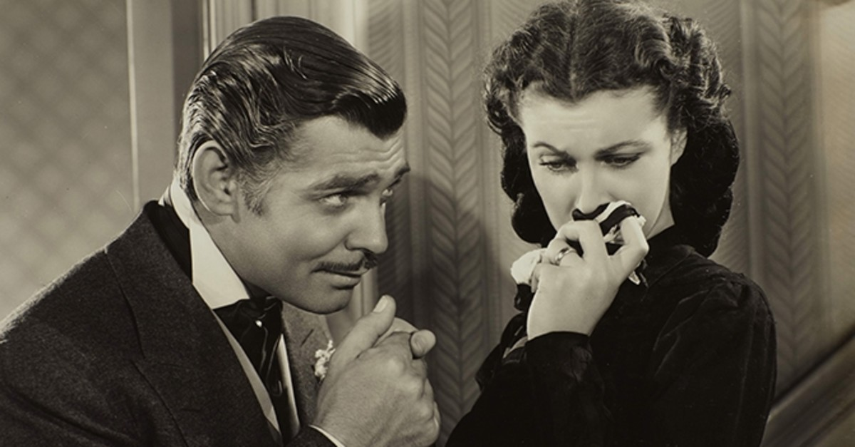 Clark Gable and Vivien Leigh in ,Gone with the Wind.,