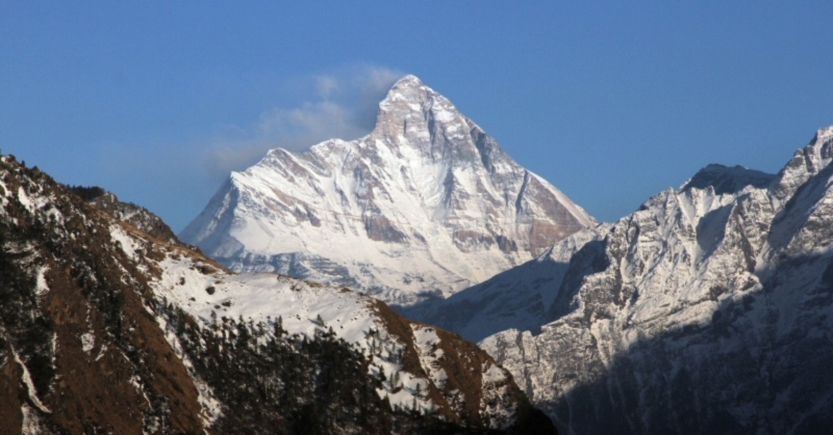 Snow-covered Nanda Devi mountain is seen from Auli town, in the northern Himalayan state of Uttarakhand, India Feb. 25, 2014. (Reuters Photo)