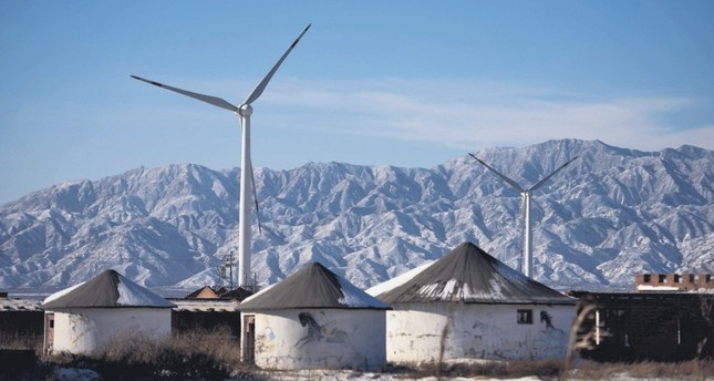 Wind turbines in Guanting, outside of Beijing. China is the world's biggest polluter and its emissions of the Greenhouse gases that cause climate change is at the center of the future of the planet. (AFP Photo)