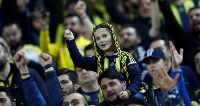 General view of fans before the match between Fenerbahce and Besiktas at Sukru Saracoglu Stadium in Istanbul, Turkey on Dec. 22, 2019. REUTERS Photo