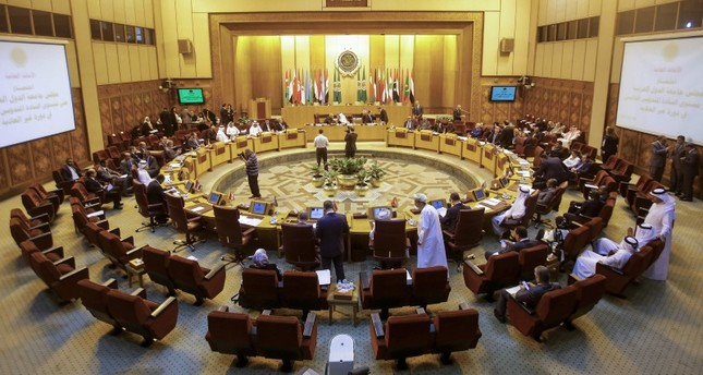 A picture taken on May 16, 2018 shows a general view of the meeting of the permanent delegates of Arab League during extra-ordinary emergency session held at the League's headquarters in the Egyptian capital Cairo. (AFP Photo)