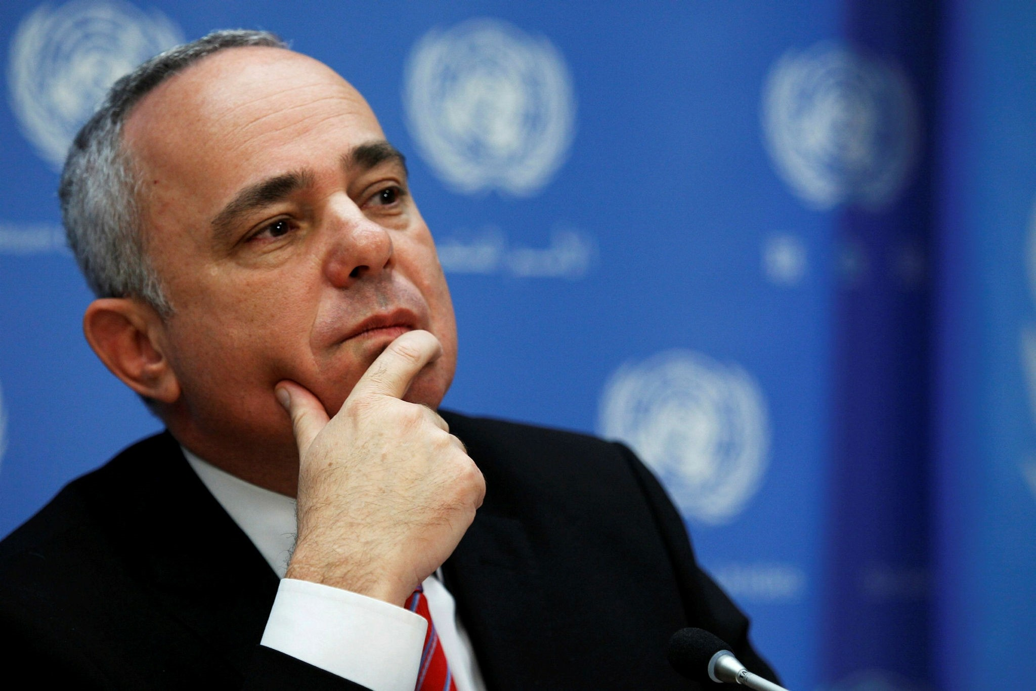 Yuval Steinitz attends a news conference after a meeting of the Ad Hoc Liaison Committee during the 68th United Nations General Assembly at U.N. headquarters in New York September 25, 2013. (Reuters Photo)