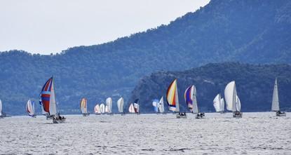 Soaring over sea or sky on Turkey's southern coast