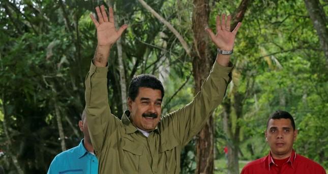 Venezuelan President Nicolas Maduro arrives for a government act at Vinicio Adames Park, Miranda Aug. 6.
