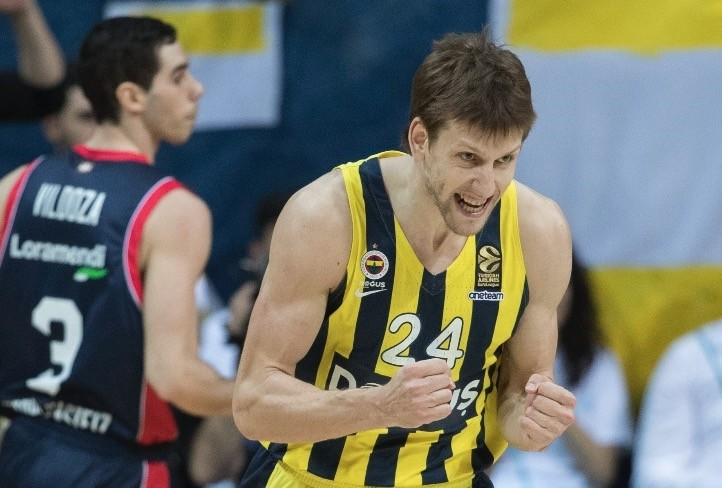 Jan Vesely has made  seven rebounds per game in the playoffs so far.
