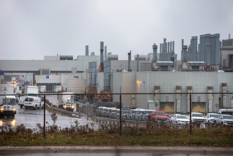 The General Motors assembly plant in Oshawa, Ontario, Canada November 26, 2018. (Reuters Photo)