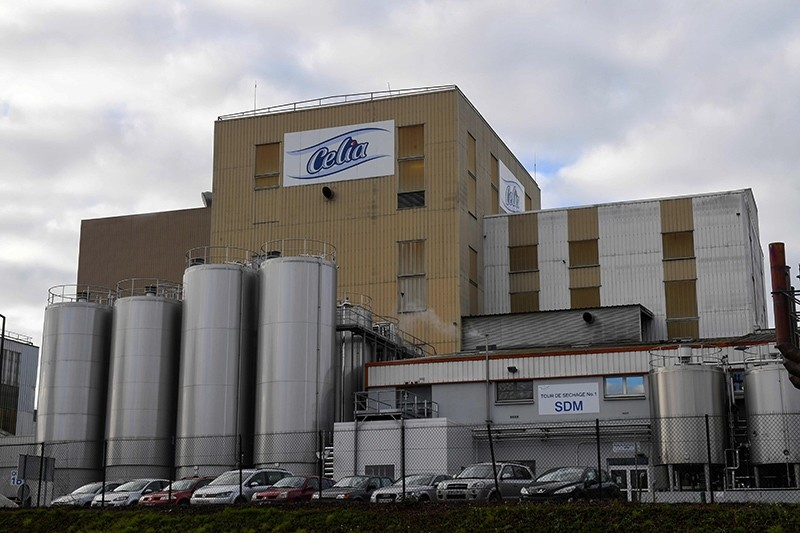 This Dec. 4, 2017 file photo shows the Celia dairy company's infant milk factory that belongs to the LNS Lactalis group in Craon, France. (AFP Photo)