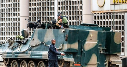 pThe head of the African Union said Thursday that the body will never accept the military coup d'etat in Zimbabwe./p  pWe demand respect for the constitution, a return to the constitutional order...