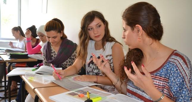 A group of international students at  Süleyman Demirel University.