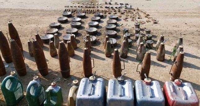 في إطار عملية نبع السلام.. القوات التركية تفكك مئات الألغام والقنابل اليدوية في المناطق المحررة