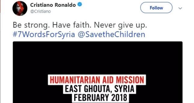 رسالة رونالدو لأهل الغوطة وسكانها