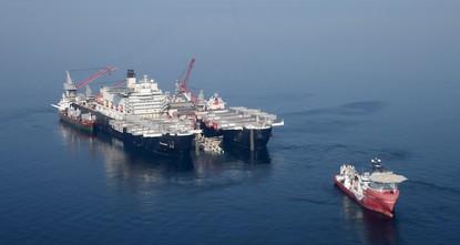 TurkStream pipe-laying vessel heads to Black Sea for operations on second line