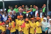 """Der deutsche Botschafter in Ankara, Martin Erdmann, nahm am Mittwoch bei der Abschlusszeremonie eines gemeinsamen Baum-Projektes namens """"3 Millionen Syrer, 3 Millionen Bäume"""