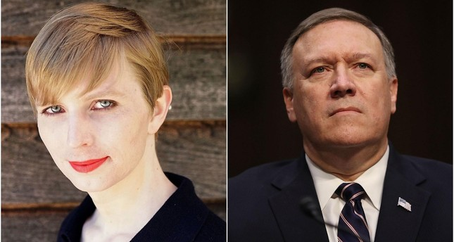 Harvard rescinds Chelsea Manning's (R) visiting fellowship after CIA director Pompeo (R) cancels speech over 'traitor'. (AFP Photos)