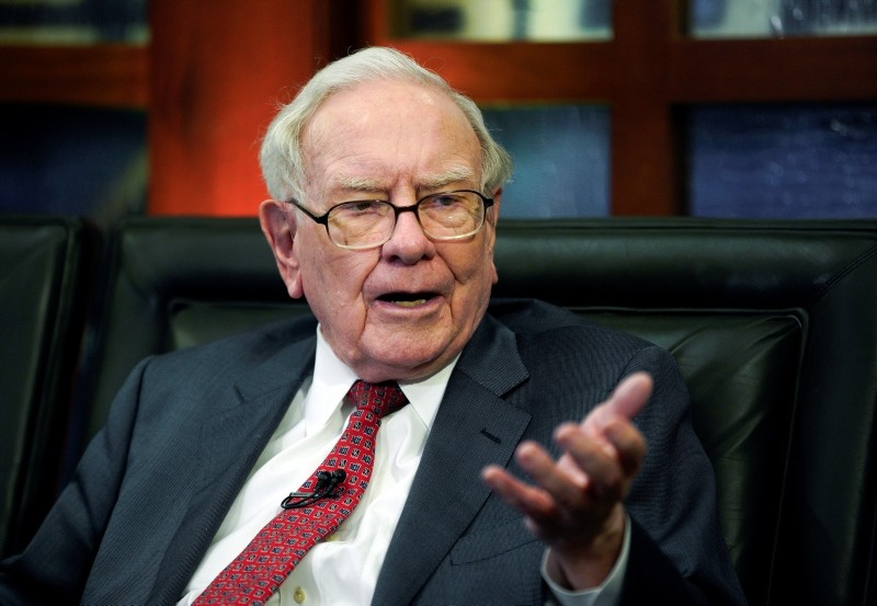 Berkshire Hathaway Chairman and CEO Warren Buffett speaks during an interview in Omaha, Neb. (AP Photo)