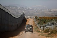 Lebanon's army chief urged his soldiers on Tuesday to stand fully ready at the southern border to face the