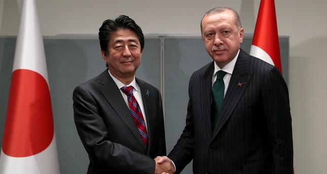Erdoğan meets with Japan's Abe, Iran's Rouhani
