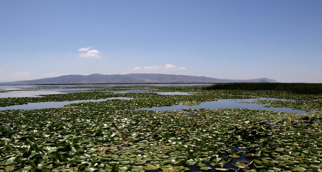 Natural protected site of Lake Işıklı in Denizli.