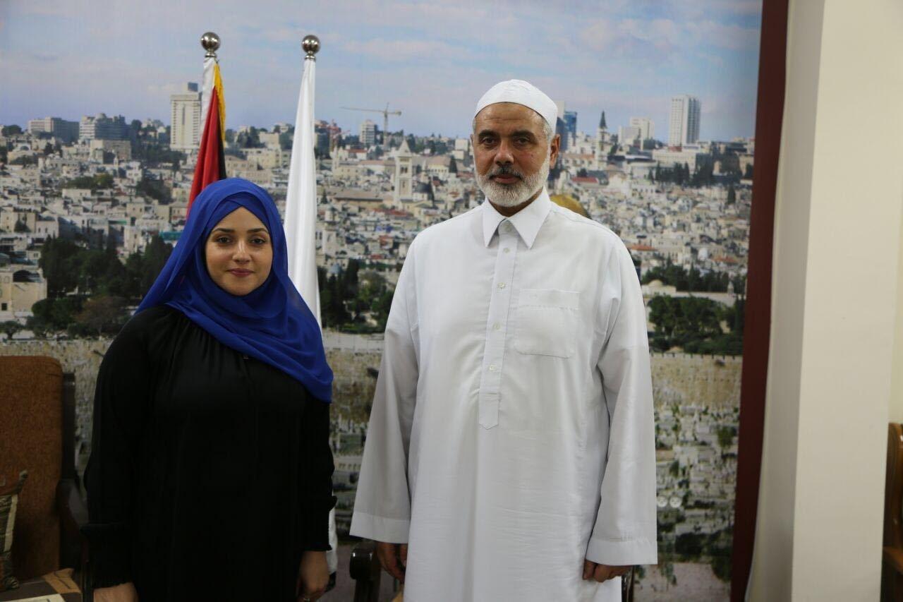 Daily Sabah's Zeynep Bayramoğlu with Hamas leader Ismail Haniyeh