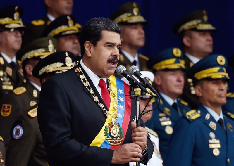 In this file photo taken on August 4, 2018, Venezuelan President Nicolas Maduro delivers a speech during a ceremony to celebrate the 81st anniversary of the National Guard in Caracas. (AFP Photo)