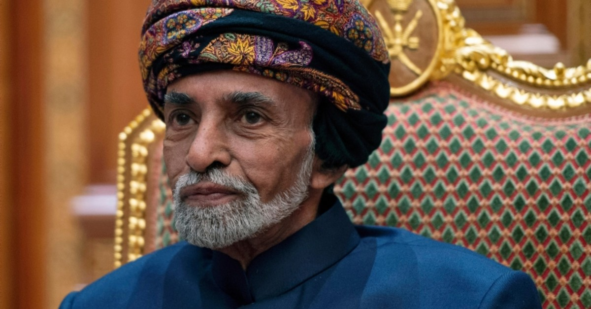 In this Monday, Jan. 14, 2019 file photo, Sultan of Oman Qaboos bin Said sits during a meeting with Secretary of State Mike Pompeo at the Beit Al Baraka Royal Palace in Muscat, Oman (AP Photo)