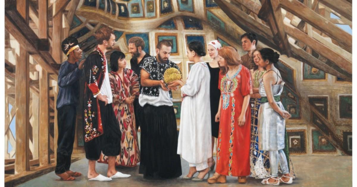 Antje Majewski, ,Donation,, oil on canvas.