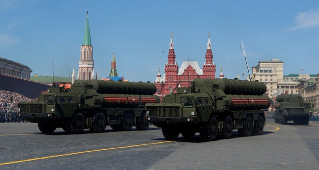 Russian servicemen drive S-400 missile air defence systems during the Victory Day parade, marking the 73rd anniversary of the victory over Nazi Germany in World War Two, at Red Square in Moscow, Russia, May 9, 2018.