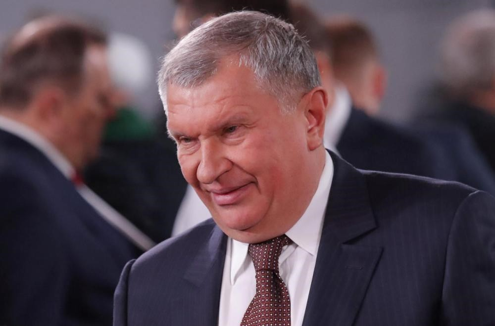 Rosneft CEO Igor Sechin before Russian President Vladimir Putin's annual state of the nation address to the Federal Assembly in Moscow.