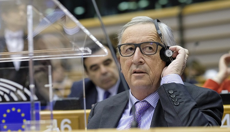EU commission President Jean-Claude Juncker during a mini plenary session at European Parliament, in Brussels, Belgium, May 2, 2018 (EPA Photo)