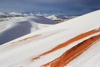 لأول مرة منذ 40 عاماً.. الثلوج تكسو الصحراء الجزائرية